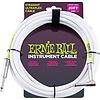 6047 Ernie Ball 20ft. Straight / Angle White Jacket / Green Sleeve