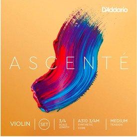 D'Addario D'Addario A310 3/4M Ascente Violin Set 3/4 Med