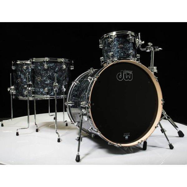 DW DW Drum Workshop Performance Series 4 pc shell pack Black Diamond 9 x 12 14 x 16 5.5 x 14 14 x 24