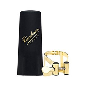 Vandoren Vandoren M|O Ligature and Plastic Cap for V16 Baritone Saxophone; Gilded Finish