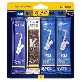 Vandoren Vandoren Tenor Sax Mix Card includes 1 each Trad., V12, V21 and bonus V21 #2.5