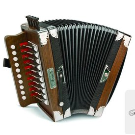 Hohner Hohner 3002 Ariette One-Row Diatonic Accordion Key of C Dark Brown