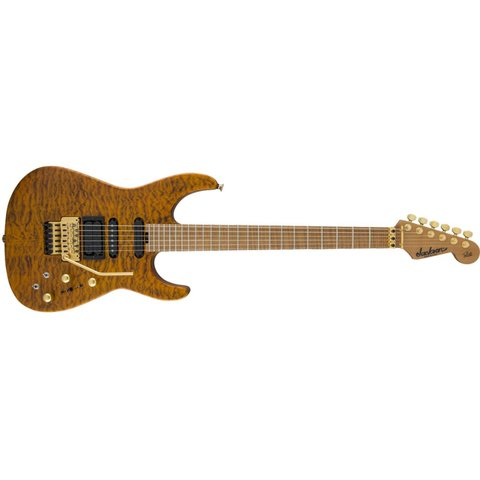 USA Signature Phil Collen PC1 Satin Stain, Caramelized Flame Maple Fngrbd, Satin Transparent Amber