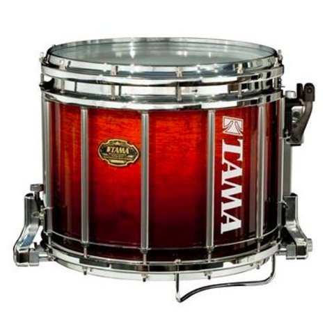 Tama M1412SLDCF 12'' x 14'' Bubinga Laquer Marching Snare Drum, Dark Cherry Fade