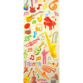 Music Treasures Co. Music Instrument Stickers