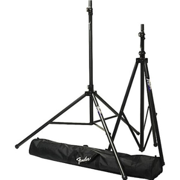Fender ST-275 Tripod Speaker Stands, 2 Speaker Stands with Carrying Bag