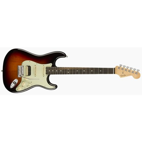 American Elite Stratocaster HSS ShawBucker, Ebony Fingerboard, 3-Color Sunburst