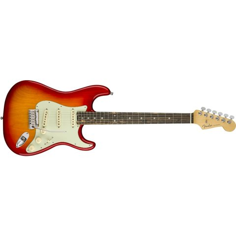 American Elite Stratocaster, Ebony Fingerboard, Aged Cherry Burst (Ash)