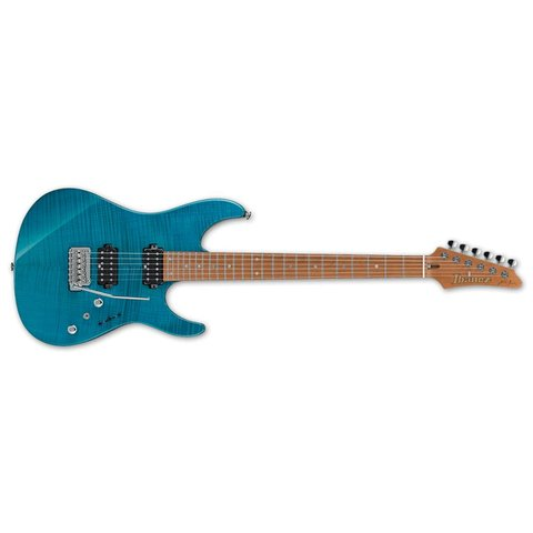 Ibanez Martin Miller Signature 6str Electric Guitar w/Case - Transparent Aqua Blue