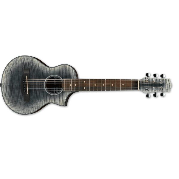 Ibanez Ibanez EWP Piccolo  6Str Acoustic Guitar - Glacier Black Open Pore