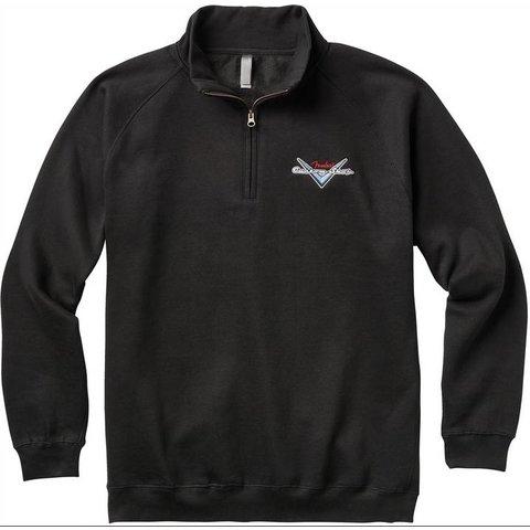 Fender Custom Shop Half Zip Sweater, Black, L