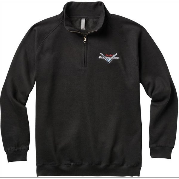 Fender Fender Custom Shop Half Zip Sweater, Black, L