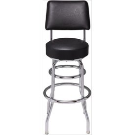 Fender Backrest Barstool 30'' Black w/ Black Fender Embossed Logo