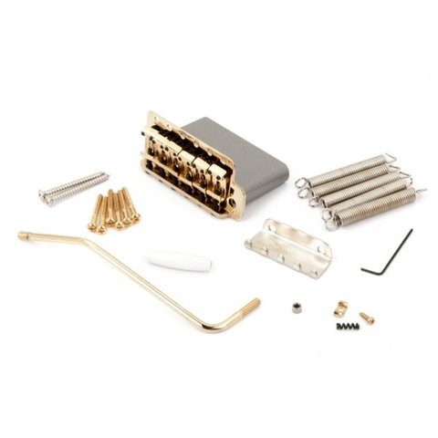 6-Saddle American Vintage Series Stratocaster Tremolo Assembly (Gold)