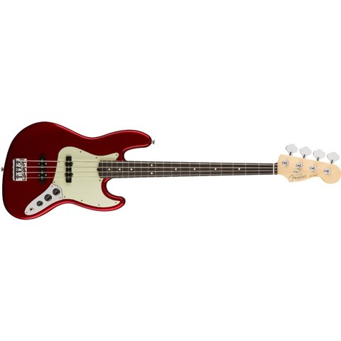 American Pro Jazz Bass, Rosewood Fingerboard, Candy Apple Red