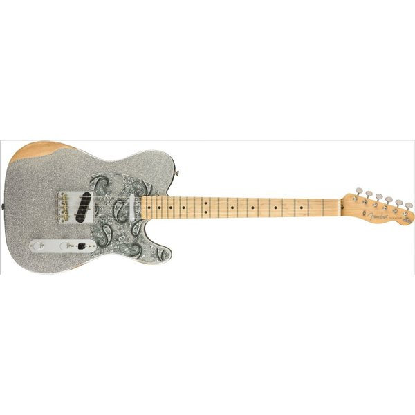 Fender Fender Brad Paisley Roadworn Telecaster Maple Neck Silver Sparkle