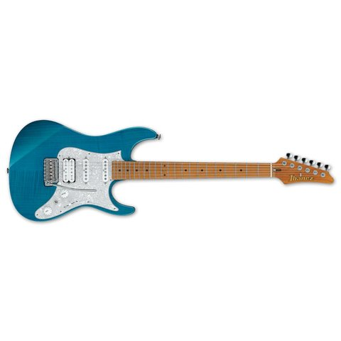Ibanez AZ Prestige 6str Electric Guitar w/Case - Transparent Aqua Blue
