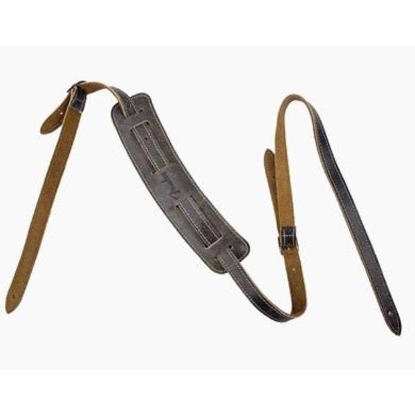 Fender Fender Vintage-Style Distressed Leather Strap, Black