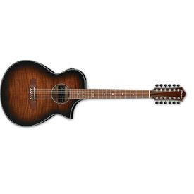 Ibanez Ibanez AEWC 12Str Acoustic/Electric Guitar - Tiger Burst High Gloss