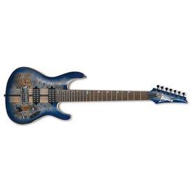 Ibanez Ibanez S Premium 7str Electric Guitar w/Case - Cerulean Blue Burst