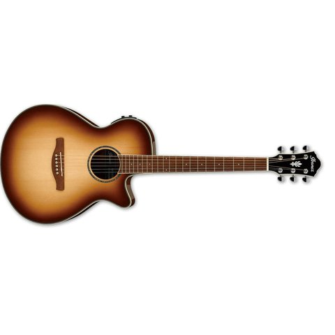 Ibanez AEG AE 6Str Acoustic/Electric Guitar - Natural Browned Burst High Gloss