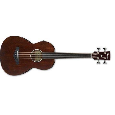 Ibanez AVNB Parlor Bass 4Str Acoustic/Electric Guitar - Brown Violin  Semi Gloss