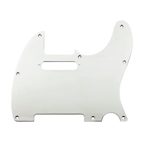 Fender Pickguard, Telecaster, 8-Hole Mount, Chrome-Plated, 1-Ply