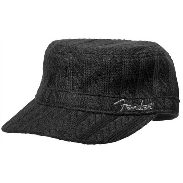 Fender Fender Military Sweaterknit Hat, Black, One Size Fits Most