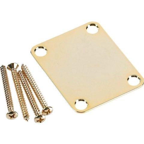 4-Bolt Vintage Neck Plate ''Plain'' (No Serial Number or Logo) (Gold)