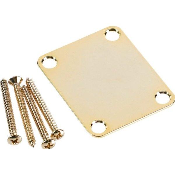 Fender 4-Bolt Vintage Neck Plate ''Plain'' (No Serial Number or Logo) (Gold)