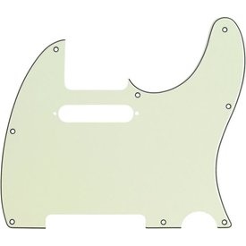 Fender Pickguard, Telecaster, 8-Hole Mount, Mint Green, 3-Ply