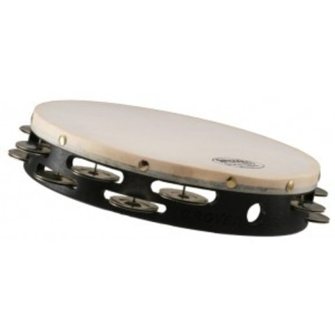 Grover Pro Percussion 10'' Double Row German Silver Tambourine