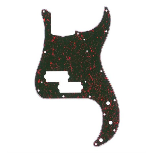 Fender Pickguard, Precision Bass (with Truss Rod Notch), 13-Hole Vintage Mount, Tortoise Shell, 4-Ply