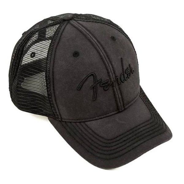 Fender Fender Blackout Trucker Hat, One Size Fits Most