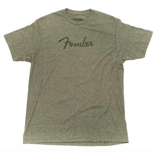 Fender Fender Distressed Logo Premium T-Shirt, Olive Heather, XXL