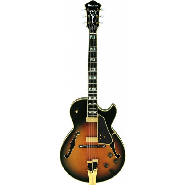 Ibanez Ibanez GB10BS George Benson Signature Model Hollowbody Brown Sunburst w/ Case