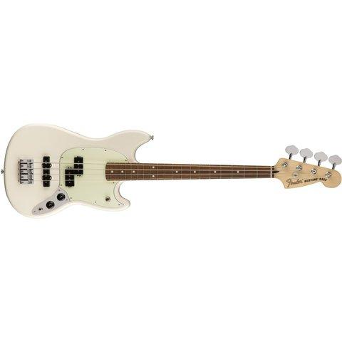 Mustang Bass PJ, Pau Ferro Fingerboard, Olympic White