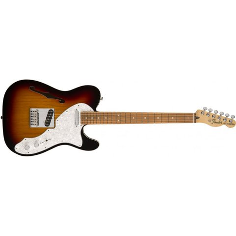 Deluxe Telecaster Thinline, Pau Ferro Fingerboard, 3-Color Sunburst