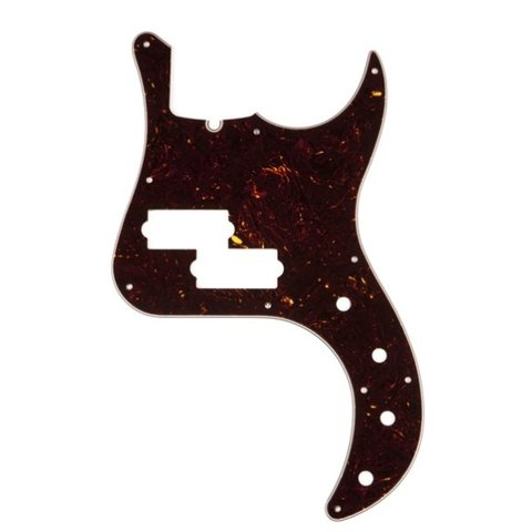 Pickguard, American Deluxe P Bass, 10-Hole Mount, Brown Shell, 4-Ply