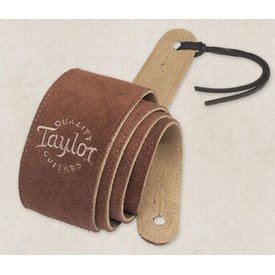 Taylor Taylor Chocolate Suede Logo Guitar Strap