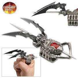 Spider Ring Knife With Two Blades And Spike by Fantasy Master