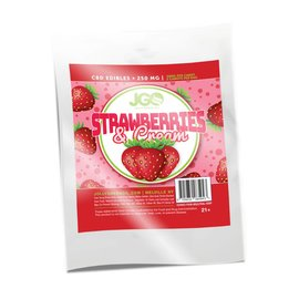 CBD 5pk Strawberries and Cream Edibles 250mg  by JGO CBD