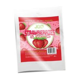 JGO CBD 5pk Strawberries and Cream Edibles 250mg  by JGO CBD