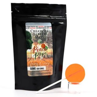 Creating Better Days CBD Lollipop Tangy Orange 50mg by Creating Better Days