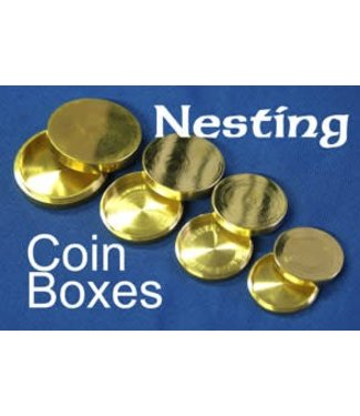 Nesting Coin Boxes, Brass - India