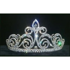 Braziliana Tiara 3.5 inch Rhinestone Jewelry Corporatrion