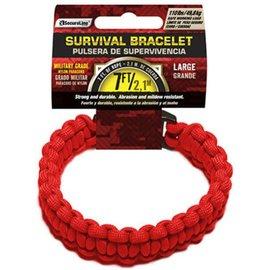 Survival Bracelet - Large, Red by SecureLine