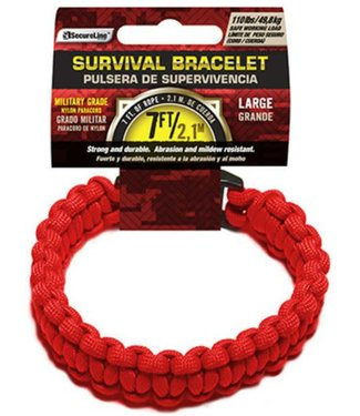 Survival Bracelet - Large, Red by SecureLine
