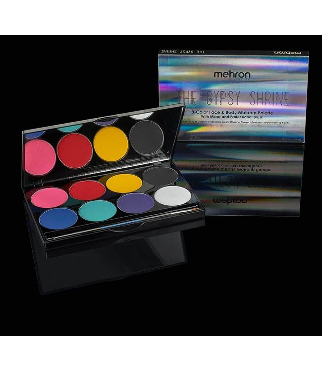 Mehron The Gypsy Shrine Fire Cracker Face And Body Makeup Palette With Jewel Set