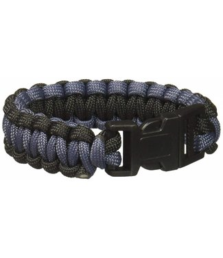 Survival Bracelet - Large, Black/Grey by SecureLine